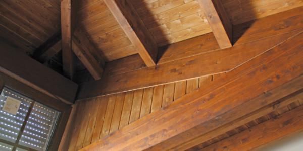 Interior estructura tejado