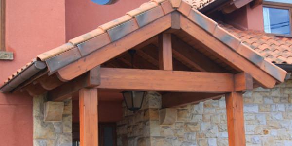 vista estructura porche
