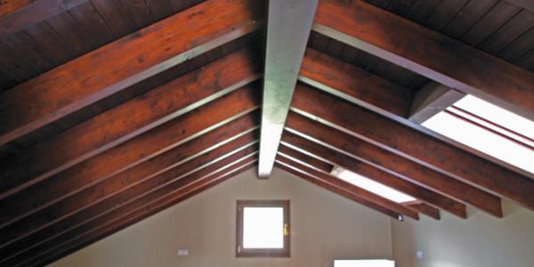 vista vigas y techo