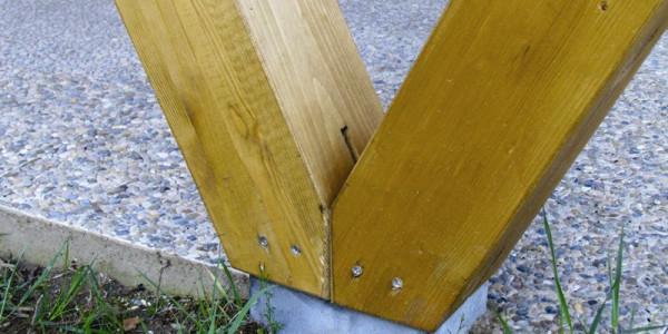 Detalle unión pilar V