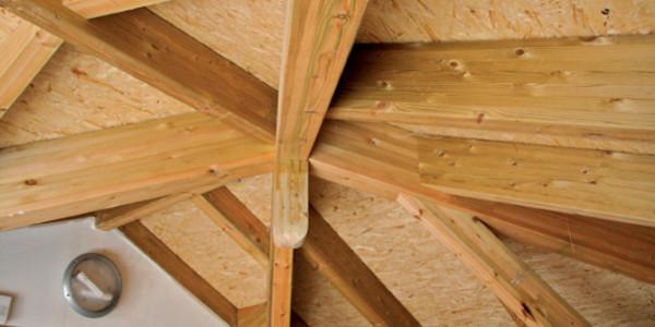 Pilares techo Casona Campomanes