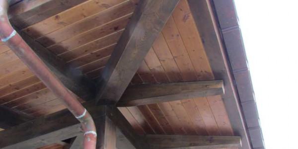 Detalle canalón tejado Castiello