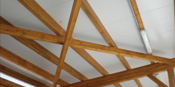 Detalle estructura techoo Campo de Golf de Llanes