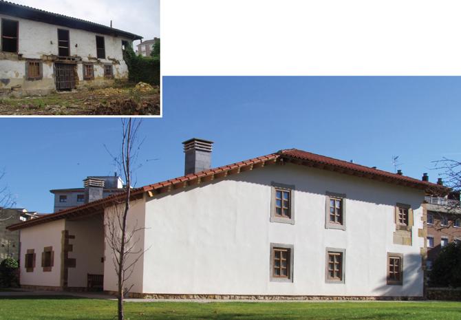 Exterior Casona La Soledad antes y después