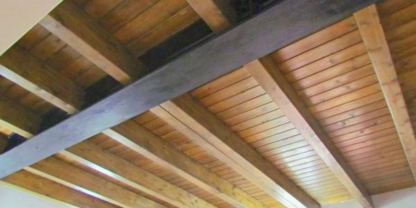 detalle techo vigas