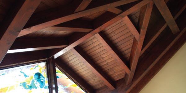 vista plomada y estructura techo