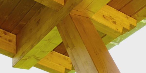 Detalle unión pilar con techo