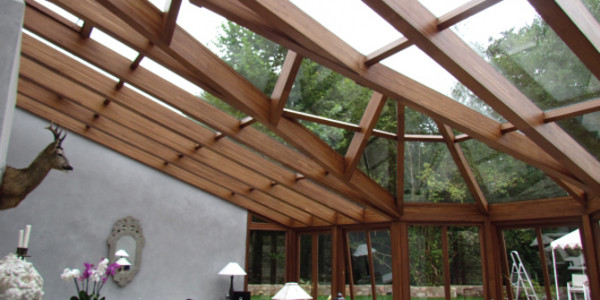 Interior vista de la estructura