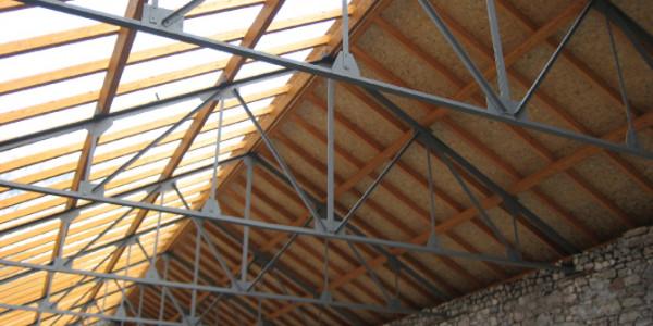 Interior cubierta techo