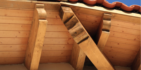 Detalle tejado Casona La soledad