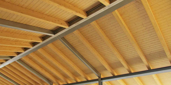 detalle tejado vigas y soportes